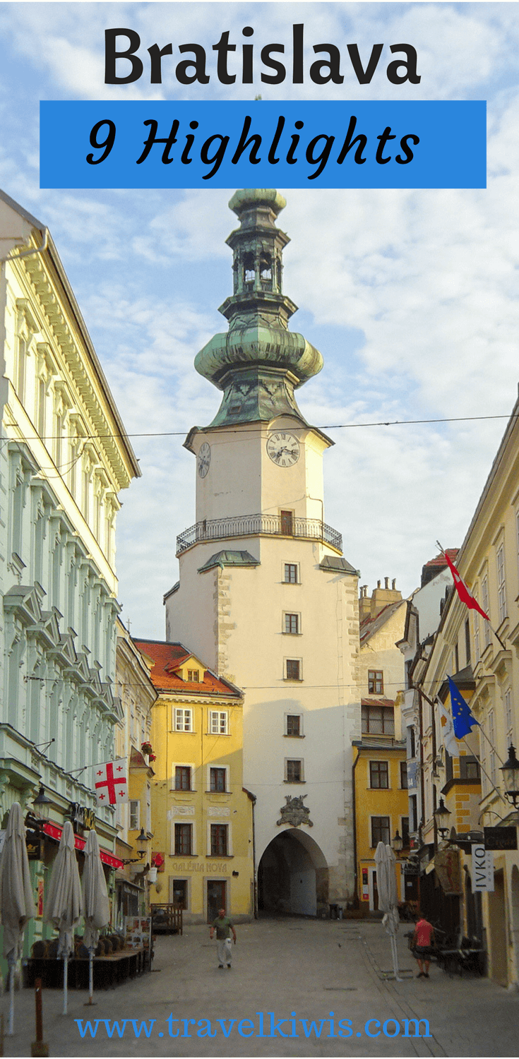 Bratislava old town 9 highlights can be visited in one day, but staying overnight lets you experience the wonderful bars and restaurants each evening.