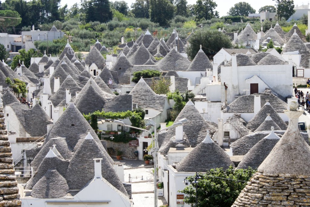 A view of the house tops of Alberobello