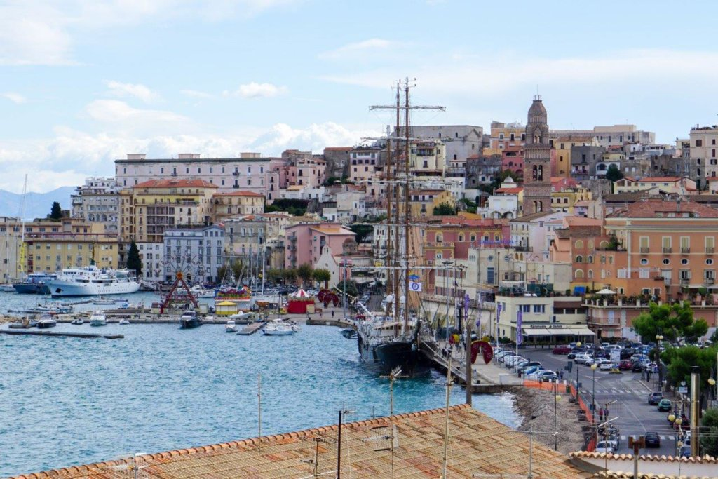 A view of the seaport of Gaeta, Italy