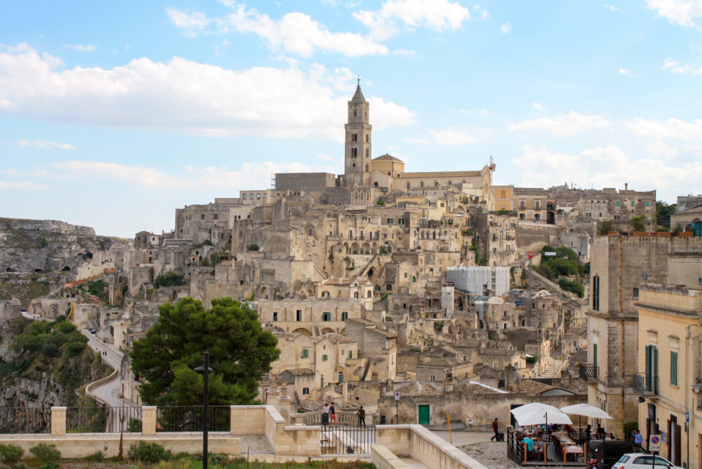 A view of Matera olf town