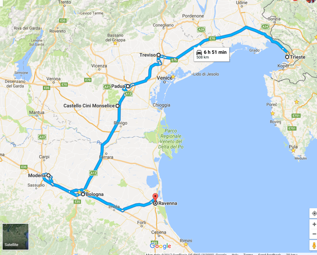 Our Italy Road Trip - Places and Foods of Northeast Italy
