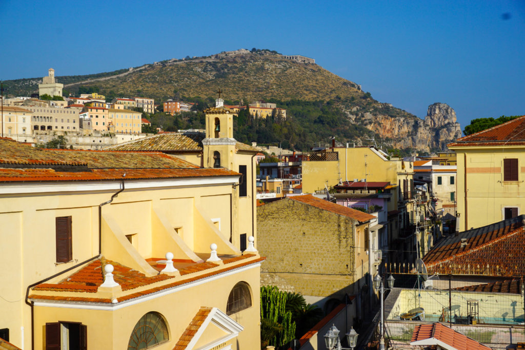 A view of Terracina old town and Jupite Anxur Temple