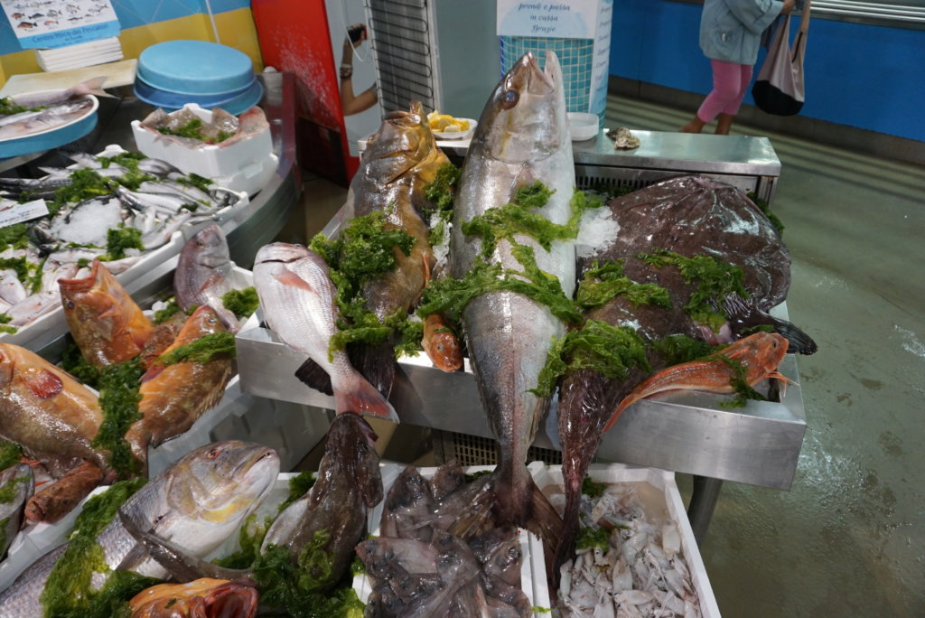 A variety of seafood to choose for dinner