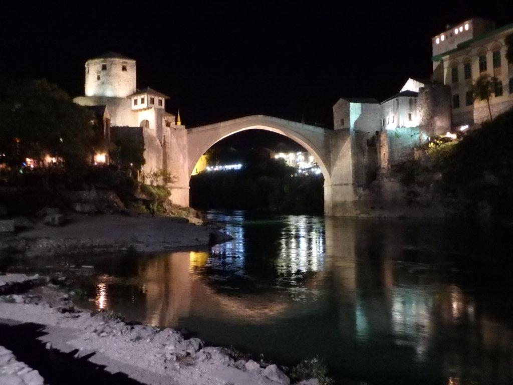 Over bridge at night