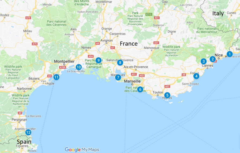 Map South Of France Coast.12 Beautiful Villages Of The South Coast Of France Travelkiwis